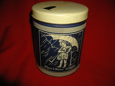 Vintage Morton's Salt Tin Can Container Chicago Advertising