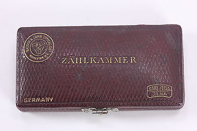 Old Bausch & Lomb Zahlkammer Counting Chambers Hemocytometer Microscope Slide