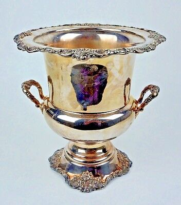 Vintage Wallace Silverplate Champagne Wine Bucket Baroque #243