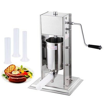 3L Sausage Stuffer Filler Meat Maker Machine Stainless Steel 8LB Dual Speed New