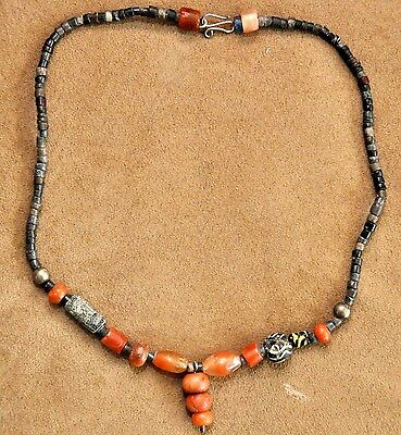 2000BC - 3000BC River Valley Civilizations Agate, Alabaster and Glass Necklace