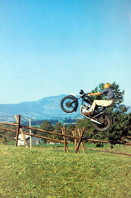 Steve Mcqueen The Great Escape On Triumph Jumping Fence 16X20 Poster