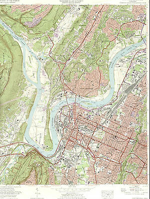CHATTANOOGA, TENNESSEE   1969/76 USGS Topographic Map   Original 7.5-minute Topo