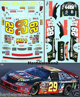 Nascar Decal #29 Kiss - Goodwrench 2004 Monte Carlo - Richmond 400 - K. Harvick