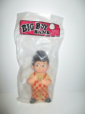 Vintage Bob's Big Boy Restaurant Advertising Vinyl Figure Bank Toy Mascot