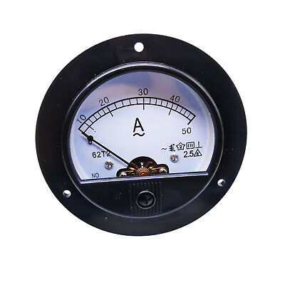 New AC 50A Round Analog AMP Current Needle Panel Meter Ammeter Built-in Shunt