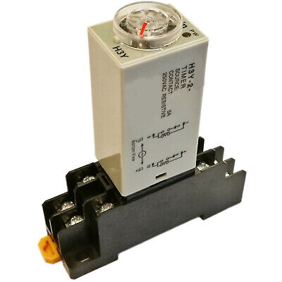 US Stock Omron DC 24V H3Y-2 Delay Timer Time Relay 0-3M Minute & Base Socket