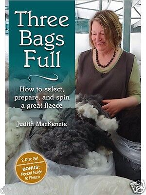 Three Bags Full With Judith MacKenzie - DVD Select Prepare & Spin a Great Fleece