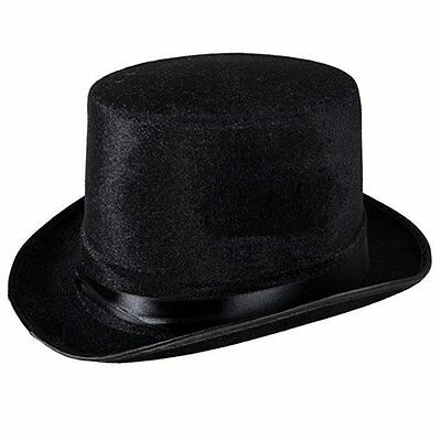 Men Women Magician Hat Black Top Hat Fedoras Hat Halloween Party Costume US