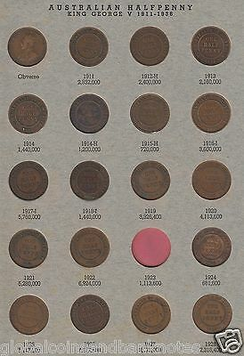 Complete Set of Half Pennies (1911-1964) (ex 23) In Second Hand Dansco Album