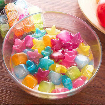 20 Pc Reusable Plastic Ice Cubes Multicolour Cold Drinks Bar Barbecue