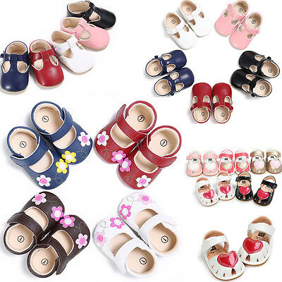 Soft Infant Baby Newborn Sole Princess Shoes Girl Kid Toddler Bow Crib Prewalker