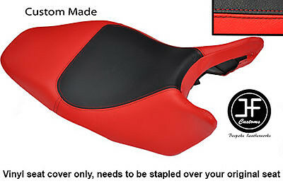 Black And Red Vinyl Custom Fits Honda Hornet Cb 600 02-04 Seat Cover Only