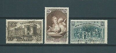 FRANCE - 1939 YT 444 à 448 - TIMBRES OBL. / USED