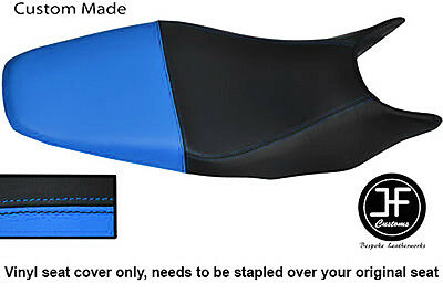 Black & Light Blue Vinyl Custom Fits Honda Hornet Cb 600 98-01 Dual Seat Cover