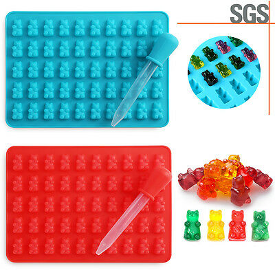DIY 50-Grids  Silicone Gummy Chocolate Ice Cavity Tray  Candy Mold Hugs Bear