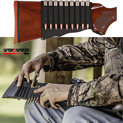 Tactical Hunting Ammo Shotgun Shell Holder Mag Pouch Adjustable Rifle Stock