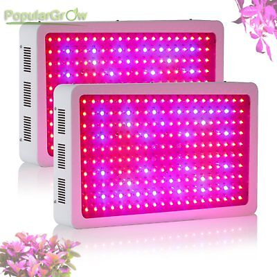 2PC Full Spectrum 600W LED Grow Light IR Indoor Grow Greenhouse Hydroponic Plant