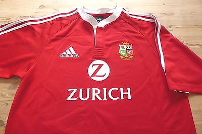 BRITISH LIONS adidas NEW ZEALAND 2005 RUGBY UNION JERSEY SHIRT LARGE