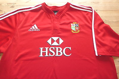 BRITISH LIONS adidas SOUTH AFRICA 2009 RUGBY UNION JERSEY SHIRT 2XL XXLARGE