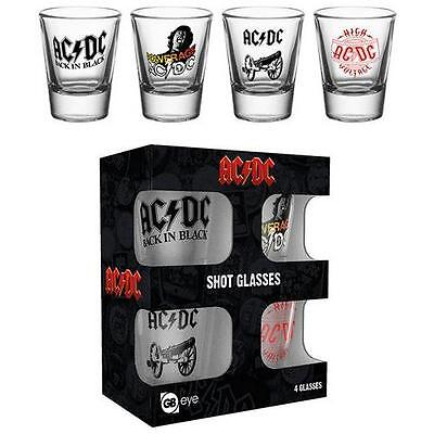 AC/DC - Band Logo Shot / Shooter Glass Set - New & Official