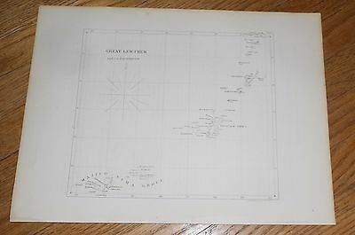 1856 Antique Map of Ryukyu Islands Okinawa Great Lew Chew Japan