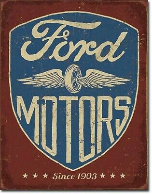 Ford Motors Since 1903 Blechschild Flach Neu aus USA 31x40cm S5047