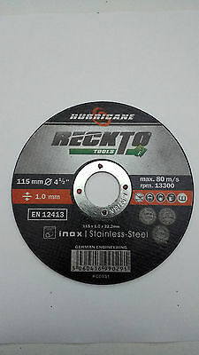 "German 115mm 4.5"" Ultra thin 1mm metal cutting Disc 4 1/2"" Stainless Steel angle"
