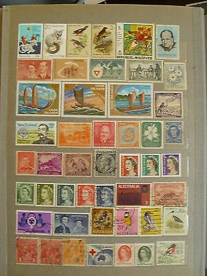 Australia & New Zealand areas old, valuable stamp collection.