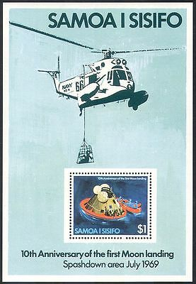 Samoa 1979 Space/Capsule/Apollo 11/Moon Landing/Helicopter/Transport m/s n41643