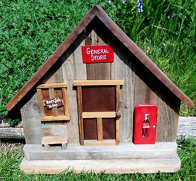 Daddy's Long Legs GENERAL STORE Display Accessory, Hand Made Wooden Wood RARE!
