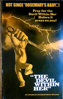 THE DEVIL WITHIN HER 1979 HORROR SCI-FI Pressbook Posters Ads Promo Stories
