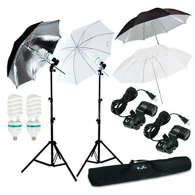 "4x33"" Photo Studio Continuous Lighting Umbrella Video Photography Light Lamp Kit"