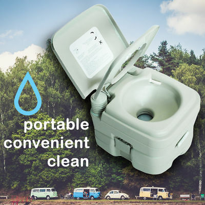 Portable Toilet 2.8 Gallon Portable Toilet Flush Travel Outdoor Camping Hiking T