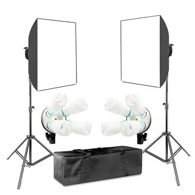 Lusana Studio Photo Lighting Kit with Softbox/Bulb Socket/Bulb/Stand/Bag LS817