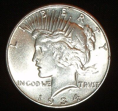 Semi-Key 1934 Silver Peace Dollar - Very Nice Coin - Free Shipping