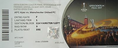 TICKET Namen UEFA EL Finale 2017 Ajax Amsterdam - Manchester United # Stockholm