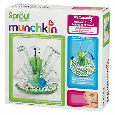 Baby Drying Bottles Rack Teats Holder Sprout Munchkin Easy Fold Flat