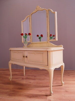 1869 !! Amazing Shabby Chic Dressing Table With Mirror In Louis Xv Style !!