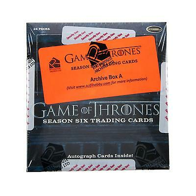Game Of Thrones Season Six Trading Cards Archive Box