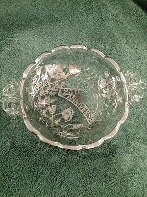 Mid Century 25Th Anniversary Handled Bowl CambridgeExpensive From Jewelry Store