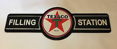 Texaco Filling Station Gas & Oil DOUBLE LAYERED METAL SIGN shop garage gasoline