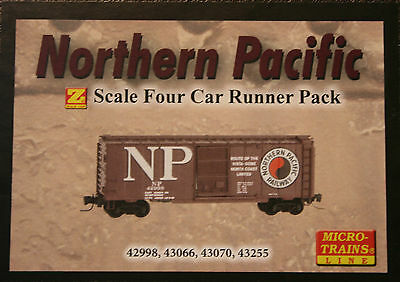Z Scale Micro-Trains NORTHERN PACIFIC boxcar 4-pack 99400087 --  NEW IN BOX