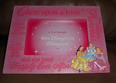 Walt Disney World Princess Picture Frame NEW In Box Cinderella Room Decor Pink