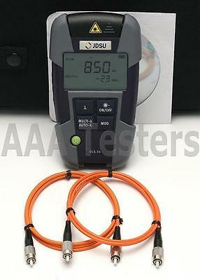 JDSU OLS-34 Smartpocket MM Fiber Optic Light Source OLS 34