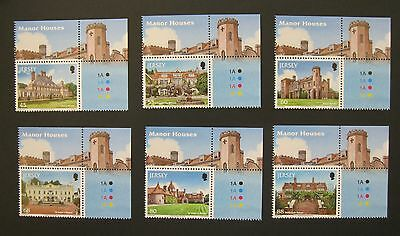 JERSEY 2014 MANOR HOUSES - unmounted mint set