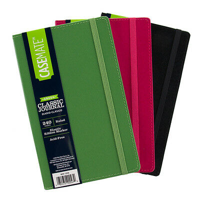 3 Pack Leatherette Writing Journal Lined Notebook Diary Green Black Pink Lot Set