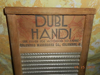 Aafa Antique Washboard Dubl Handi Columbus Washboard Co. Excellent Condition