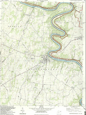 SHEPHERDSTOWN, WVa. - Md.   1994 USGS Topographic Map   Original 7.5-minute Topo