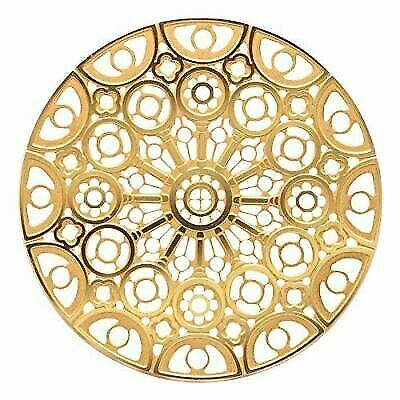 Gold Colored Chartres Cathedral Rose Window Ornament Decoration